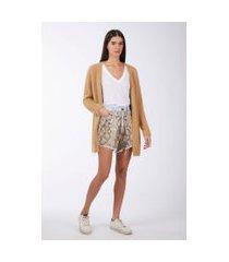 shorts boy vintage com aplicação cobra jeans medio - 42
