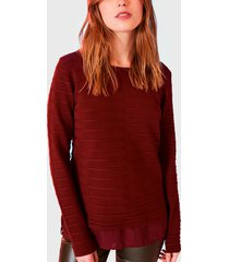 sweater io liso burdeo - calce regular