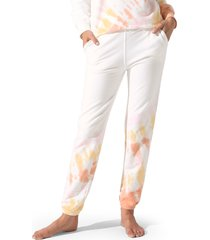 women's electric & rose vendimia tie dye jogger sweatpants, size medium - white