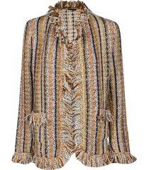 etro multicolor woo-mohair blend jacket