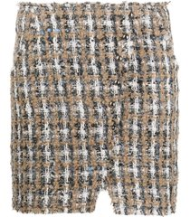 iro plaid tweed mini skirt - neutrals