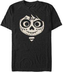 disney pixar men's coco miguel big face short sleeve t-shirt