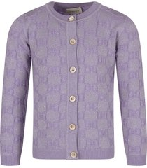 gucci lilac girl cardigan with double gg