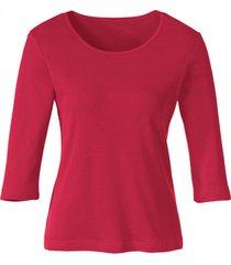 biokatoenen shirt met ronde hals, kers 36/38