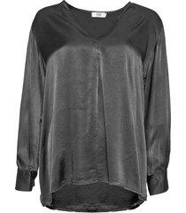 tiffany tiffany satin bluse 191368 mörkgrå