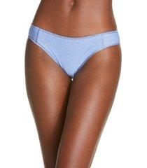 women's becca madison adela hipster bikini bottoms, size x-small - blue