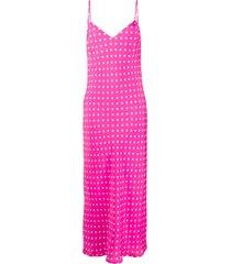 essentiel antwerp polka dot cami dress - pink