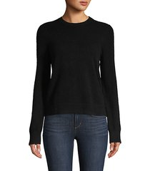 open-back cashmere sweater