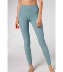 calzedonia active leggings woman green size m