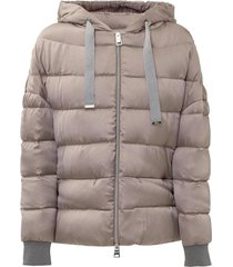 down jacket with slits