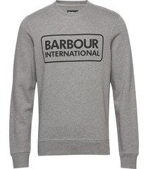 b.intl large logo sweat sweat-shirt tröja grå barbour