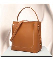 secchiello per le donne solid borsa borsa per il tempo libero in pelle pu tote crossbody borsa