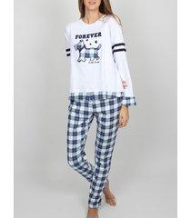 pyjama's / nachthemden admas homewear pyjamabroek met lange mouwen lou winter