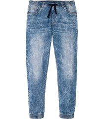 jeans con elastico slim fit straight (blu) - rainbow