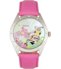 bertha quartz ericka collection light pink leather watch 38mm