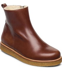 boots - flat - with zipper shoes boots ankle boots ankle boot - flat brun angulus