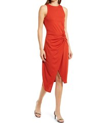 women's chelsea28 sleeveless twist detail dress, size medium - red