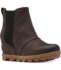 sorel women's joan of arctic wedge ii waterproof chelsea booties women's shoes