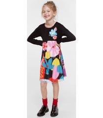 floral high waist dress - black - 11/12