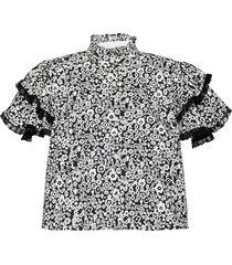 betty blouses short-sleeved svart custommade