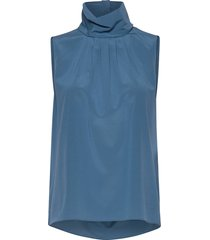 cdc stretch - prosa top blouse mouwloos blauw sand