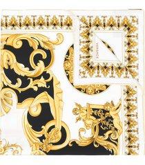 versace baroque print scarf - multicolour