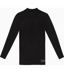 sweater iconic rib negro calvin klein