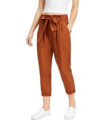 indigo rein juniors' high-rise paperbag pants