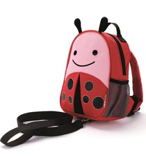 mini mochila com guia zoo joaninha skip hop rosa