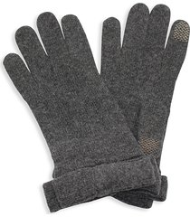 portolano women's nuvola bow tech gloves - dark grey