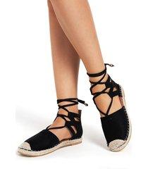 sandalias casuales de diseño con cordones negros
