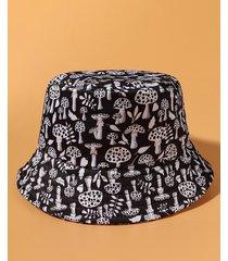 all-over mushroom printed bucket hat