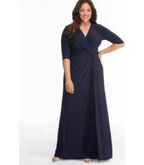 kiyonna women's plus size romanced by moonlight gown