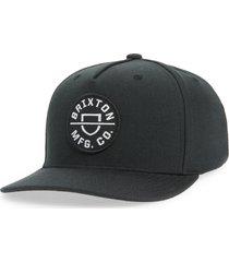 brixton crest snapback baseball cap in black at nordstrom