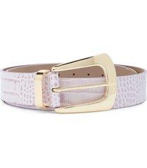 b-low the belt embossed croc-effect belt - purple
