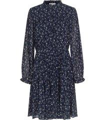 jurk met print norrie  blauw