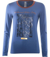 t-shirt vibes blauw