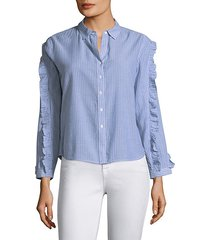 lizzi stripe button-down shirt