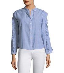 lizzi stripe button-down shirt