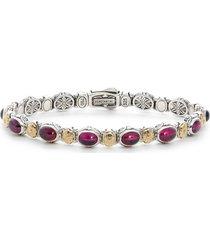 women's konstantino silver rhodolite garnet bracelet