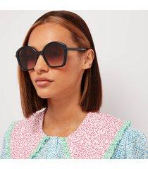 chloé women's billie recycable acetate sunglasses - blue/brown