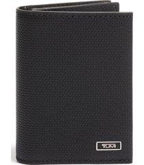tumi monaco leather card case - black