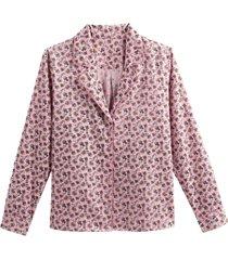 blommig skjorta i pyjamasstil