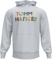 tommy hilfiger men's pride logo french terry hoodie