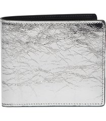 distressed classic leather wallet
