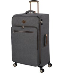 "it girl 28"" glisten softside semi-expandable spinner suitcase"