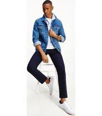 tommy hilfiger men's emf jeans redesign trucker jacket portland indigo - xxl