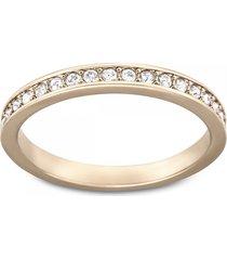 anillo rare, blanco, baño en tono oro rosa