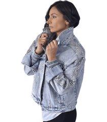chaqueta jeans oversize azul alexandra cid
