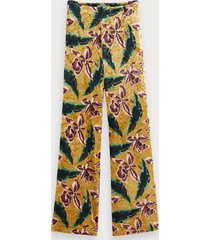 scotch & soda velvet floral print trousers